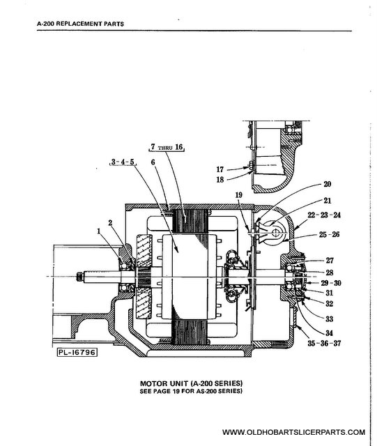 hobart mixer replacement parts